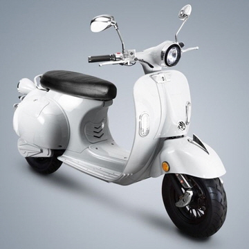 Kito-Retro-Scooter weiss